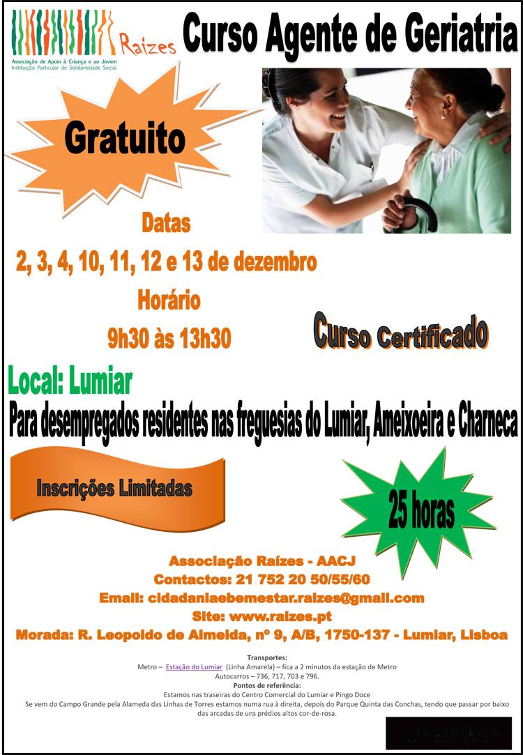 Cartaz Divulagção_Curso Agente de Geriatria