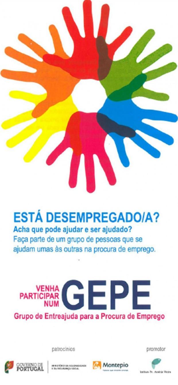 Rede de entreajuda para desempregados chega a Telheiras Panfleto capa