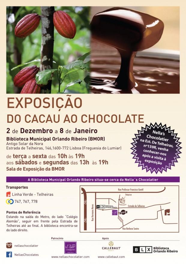 Do cacau ao chocolate em exposição na Biblioteca flyer