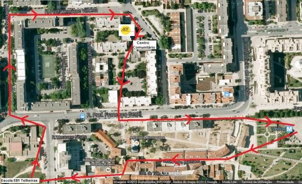 Desfile Carnaval mapa