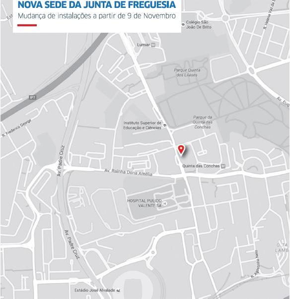 Novas instalações JFL mapa