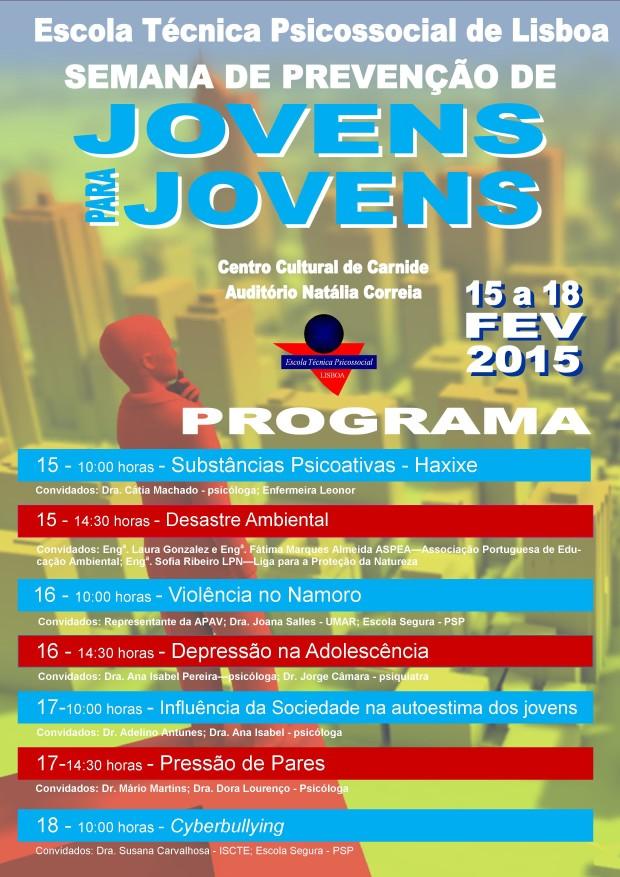 semana de prevenção de jovens para jovens 2016