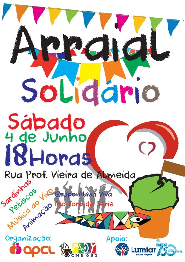 CNE APCL Arraial Solidário poster A4