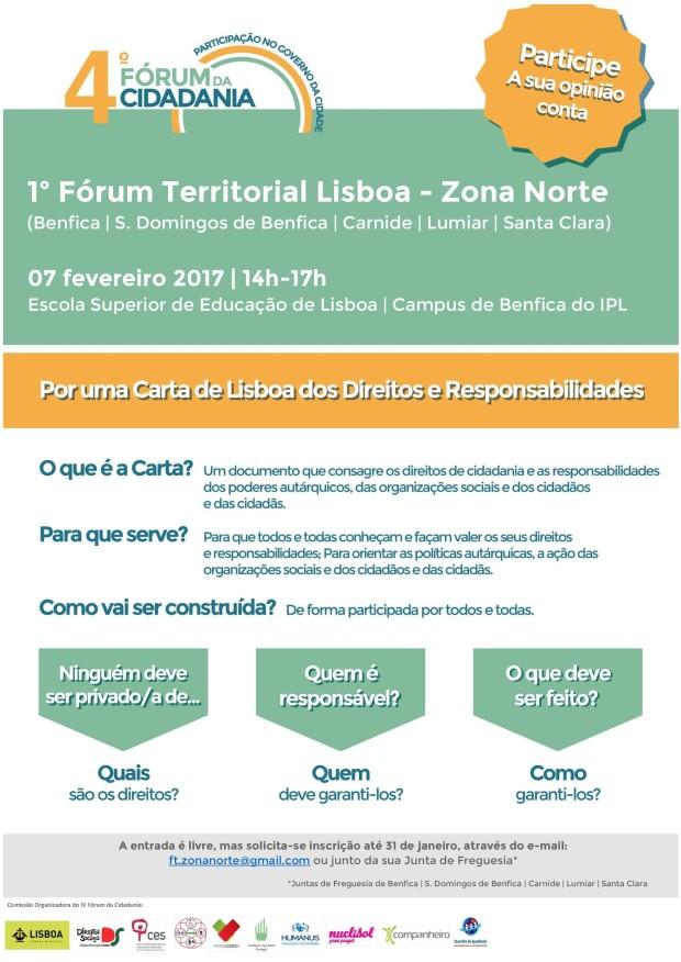 CML 4º Fórum Cidadania cartaz_Forum Territorial_Zona Norte_versão final