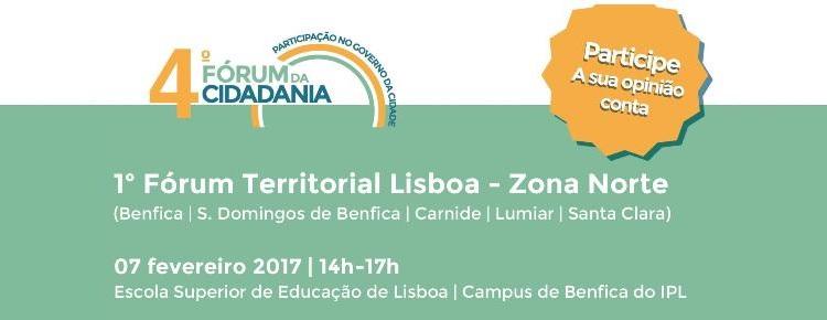 CML 4º Fórum Cidadania cartaz_Forum Territorial_Zona Norte_versão final capa