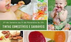 Amamentos Workshop de tintas comestíveis e saudáveis