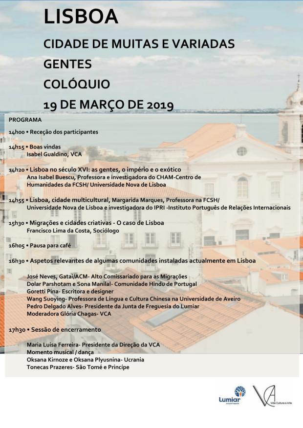 VCA Lisboa, cidade de muitas e variadas gentes programa