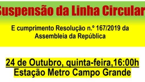 ART organiza concentração de protesto contra a linha circular do metro capa