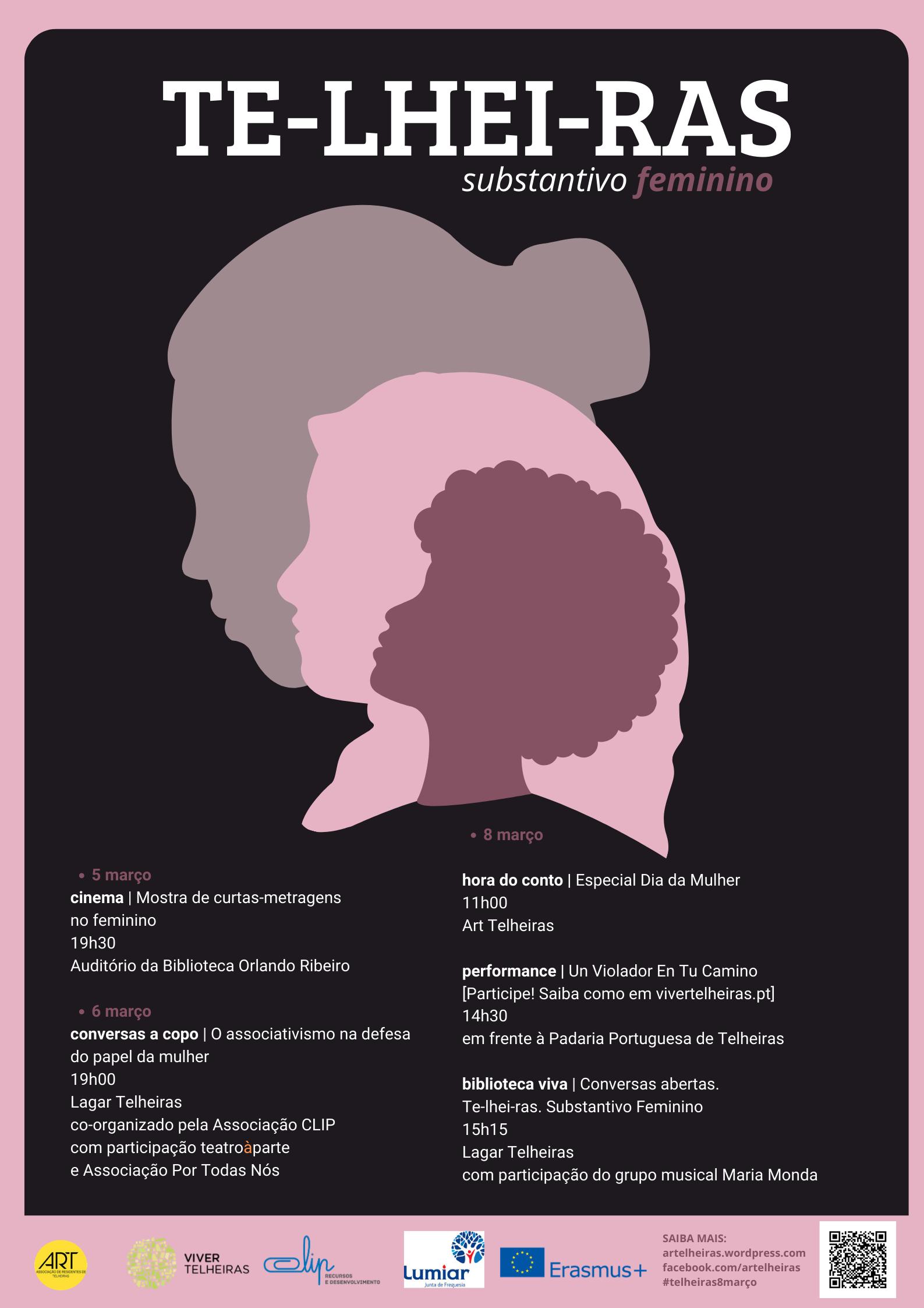 ART TE-LHEI-RAS [substantivo feminino] cartaz v2